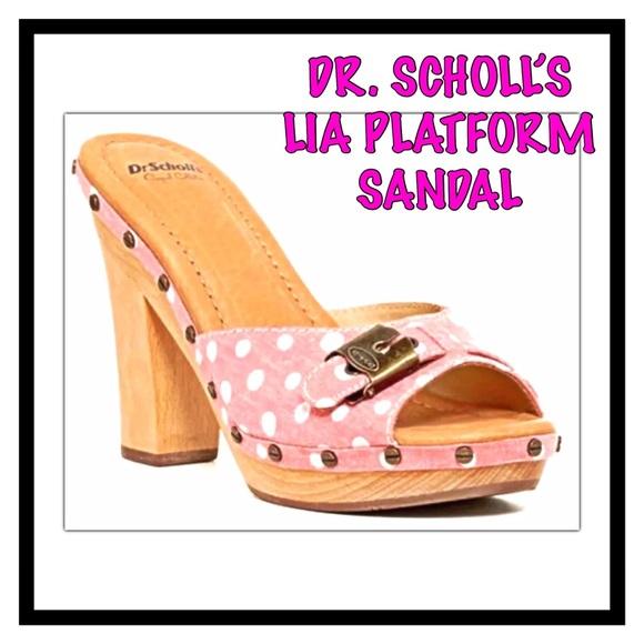 09c503924321 Dr. Scholl s Lia Chunky Heel Platform Sandal
